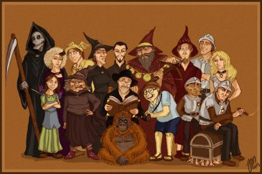 Discworld characters by yenefer