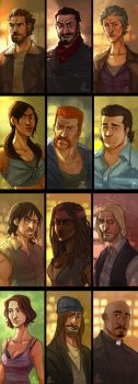 The Walking Dead - Portraits by the-evil-legacy
