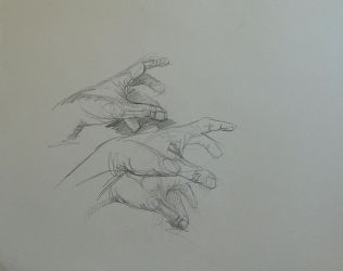 Hand studies by RFord-Art