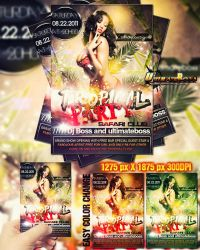 Freemium tropical party flyer by ultimateboss