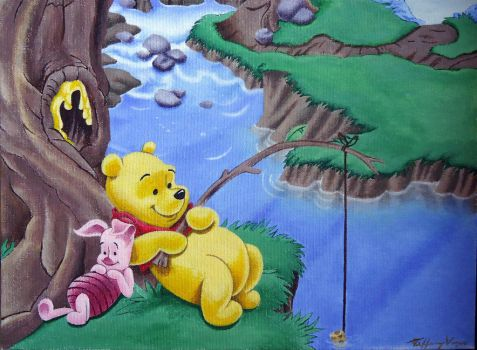 Winnie Pooh Painting by AGlimpseOfMe