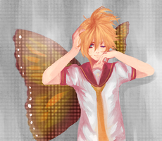 [Re-draw/paint] Butterfly on your right shoulder by KyouPei