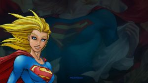 Supergirl Wallpaper Up Close 3 by Curtdawg53