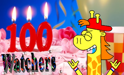 THANKS FOR 100 WATCHERS!!!!!! by Meatblaze