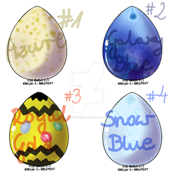 Adoptable Pern Dragon Eggs [OPEN] by RudaWilczyca