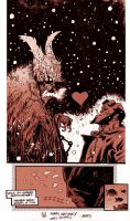 Hellboy vs. Krampus by JHarren