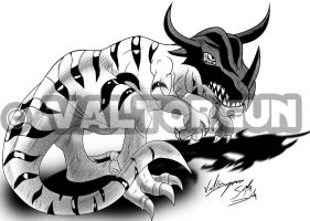 Greymon second etape by Valtorgun-le-Grand