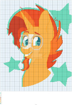 Cross Stitching Pattern - Sunburst by talkingcarol
