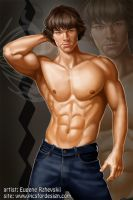 Jared Padalecki as Sam Winches by rzhevskii