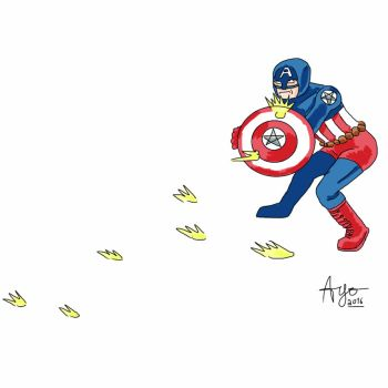 Captain America by nervousystem