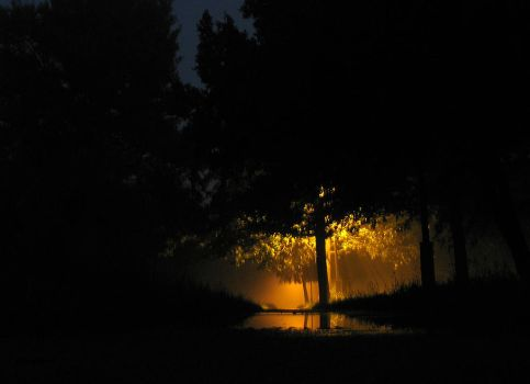 Mist 12 AM. The Reflection by Helkathon