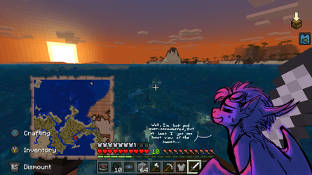 MINECRAFT. Sweet Sunset by CoffeeAddictedDragon