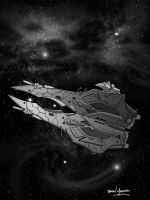 Dreadnaught - giant space ship by BrianManning