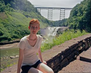 Anna and Letchworth Bridge by Mooseushi