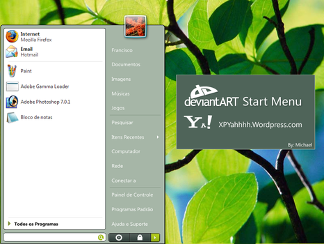 Deviantart Start Menu by XPYahhh
