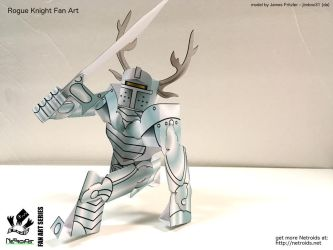 Rogue Knight Fan Art Paper Toy by jimbox31