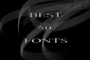 Best 50 Fonts ever by krkdesigns