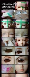 Doll Painting Process by Cospigeon