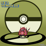#543 Venipede by Dragonfunk7