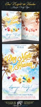 One Night In Heaven Lounge Party Flyer by squizmo