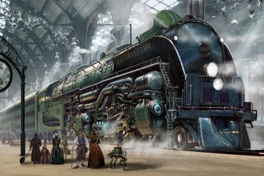 Train Station by Rossi-Publishing