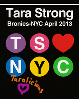 Tara Strong Bronies-NYC April 2013 appearance 8x10 by purpletinker