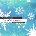 Snowflakes Photoshop Custom Shapes by redheadstock