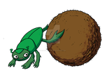Dung Beetle 01 by LeighWalls-Artist