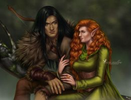 Art Trade: Rhod and Nylissa by barn-swallow