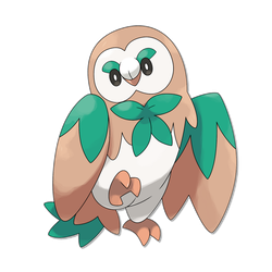Rowlet Evolution: Fowliage by FakeMakeT