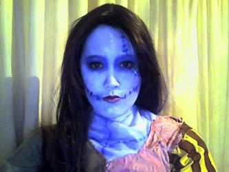 Sally Costume make up test by Lily-pily