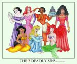 The 7 Disney Deadly Sins by Larocka84