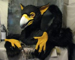 African Black Eagle gryphon partial by Crystumes