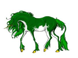 Green Ooneecorn by Stryfechild