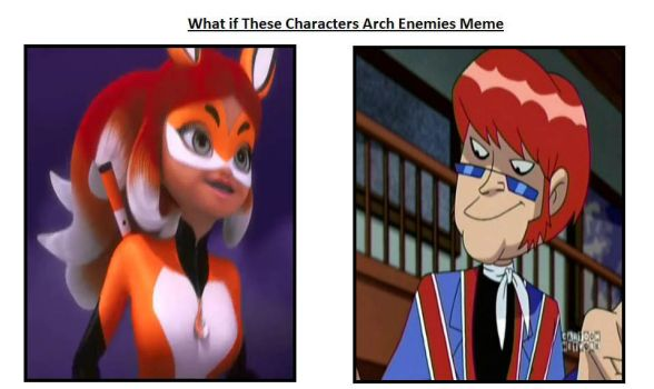 Rena Rouge and Mad Mod as Arch Enemies by JasonPictures