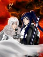 Allen and Kanda by LilyT-Art