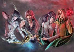 four Elf by Archie-The-RedCat