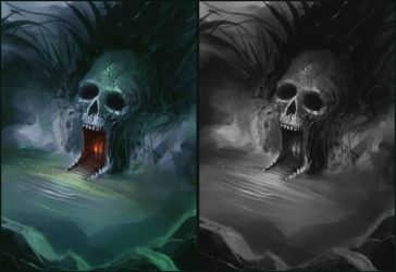 Skull Cave by ScottPurdy