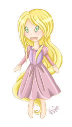 Chibi Punzie by Ice--Maiden