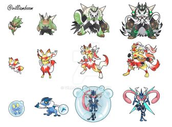 ALL THE EVOLUTION LINES by villi-c