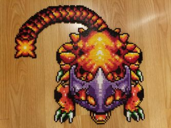 Helmasaur King from Link to the Past. by psycosulu