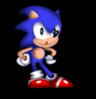 Sonic The Hedgehog HD|SonicColorSprite Wait V.1| by NuryRush