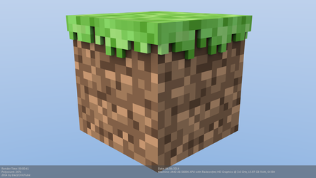 Minecraft Grass Block Model by CraftDAnimation
