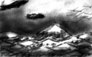 Sketchy Mountains [First Wacom Drawing] by AxisofDestruction