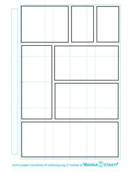 Printable Comic Paper w guides by ianoji