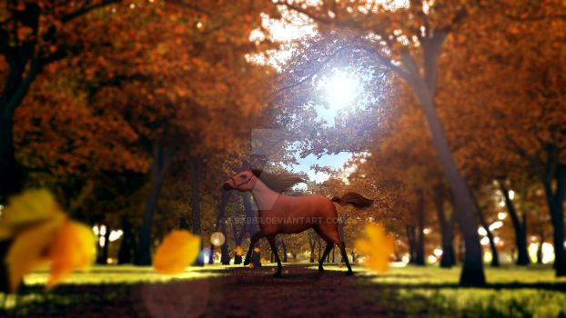 Horse in Autumn Final by esaber