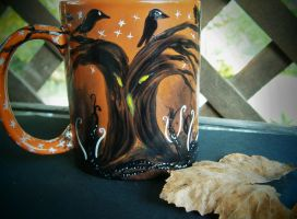 The Crows... Scarecrow handpainted mug by InkyDreamz