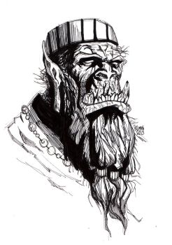 Old Man Orc by Enydimon