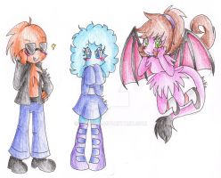 Characters (what an original tittle XD)--Art Trade by AnaNini
