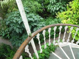green stairs by LadyEloise